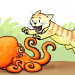 Kitten vs. Octopus!