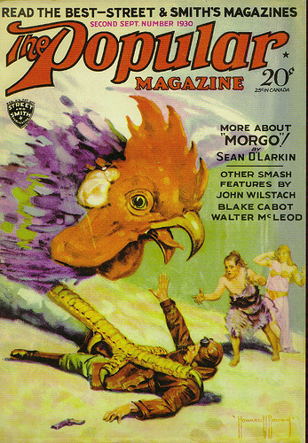 Popular Magazine Cover: Morgo vs the Giant Chicken